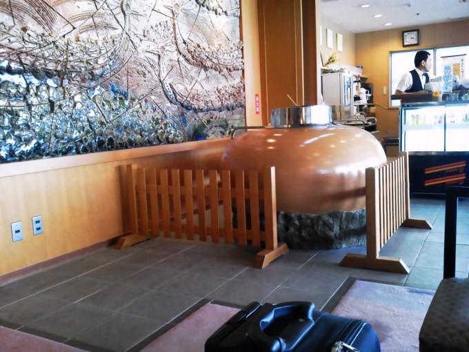 鳥羽の温泉宿「戸田家」のウェルカムドリンク-おしるこの容器