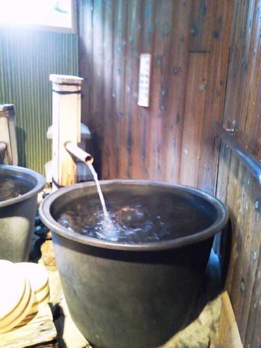 鳥羽の温泉宿「戸田家」のお風呂2