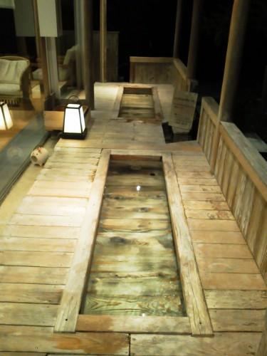 鳥羽の温泉宿「戸田家」の足湯