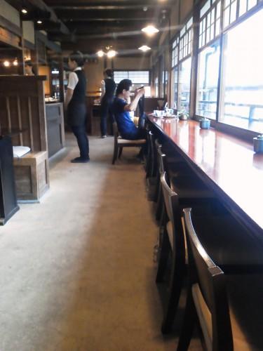 伊勢神宮前おはらい町五十鈴川カフェ店内