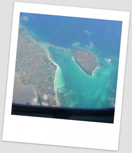 飛行機からの竹富島