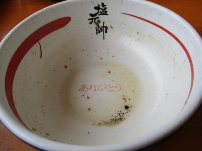 塩元師小野店スープ完食
