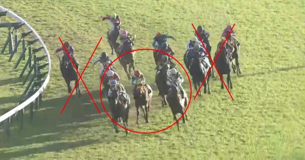 雨が降って緩んだ馬場に現れる特殊な「勝ちポジ」